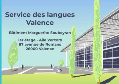 UGA – Présentation du service des langues de Valence